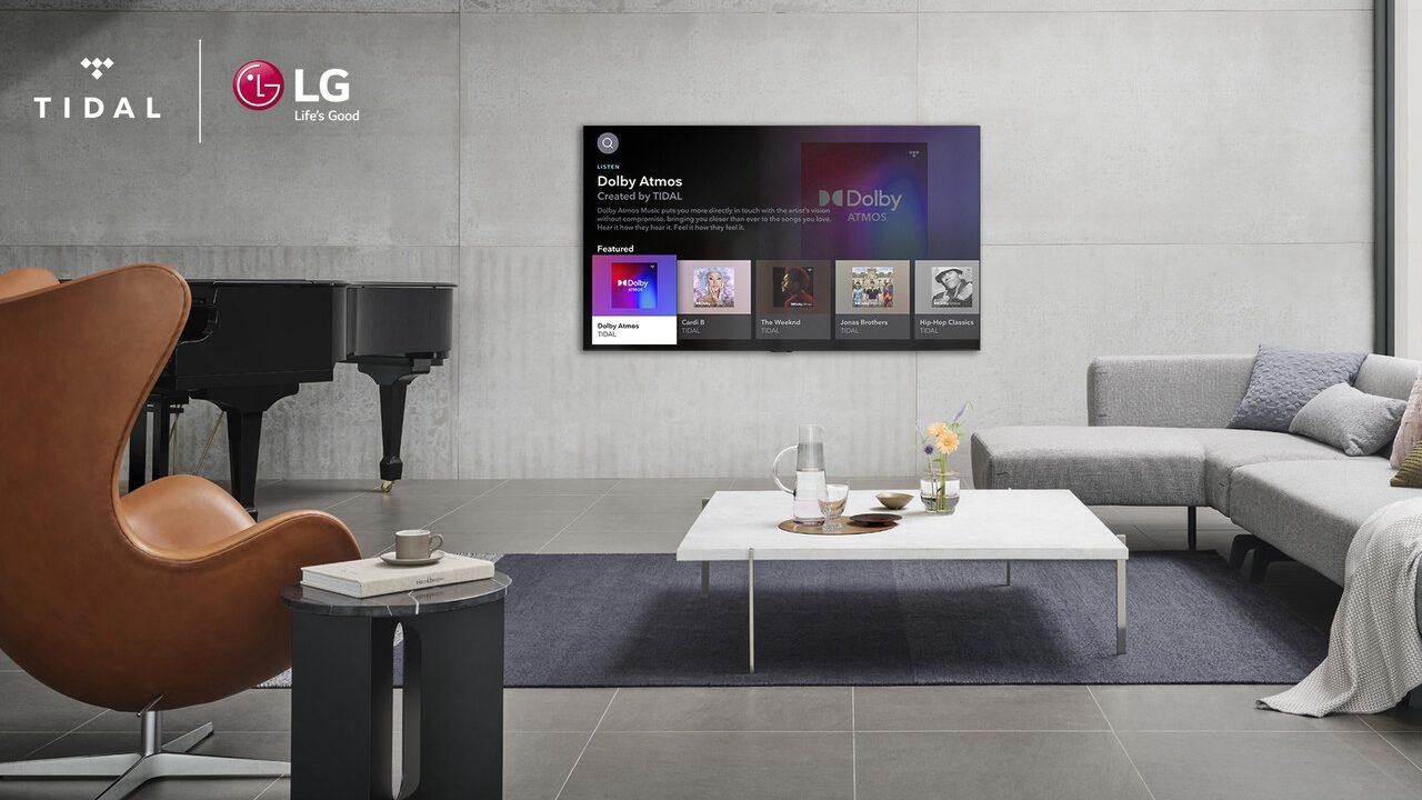 Tidal en televisores LG