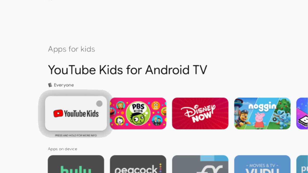 añadir un perfil para niños en Google TV
