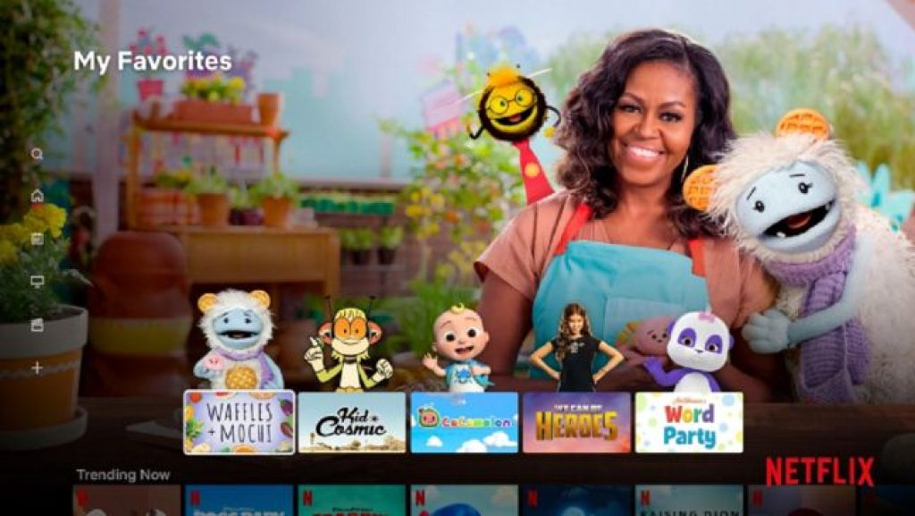 nueva interfaz infantil de Netflix