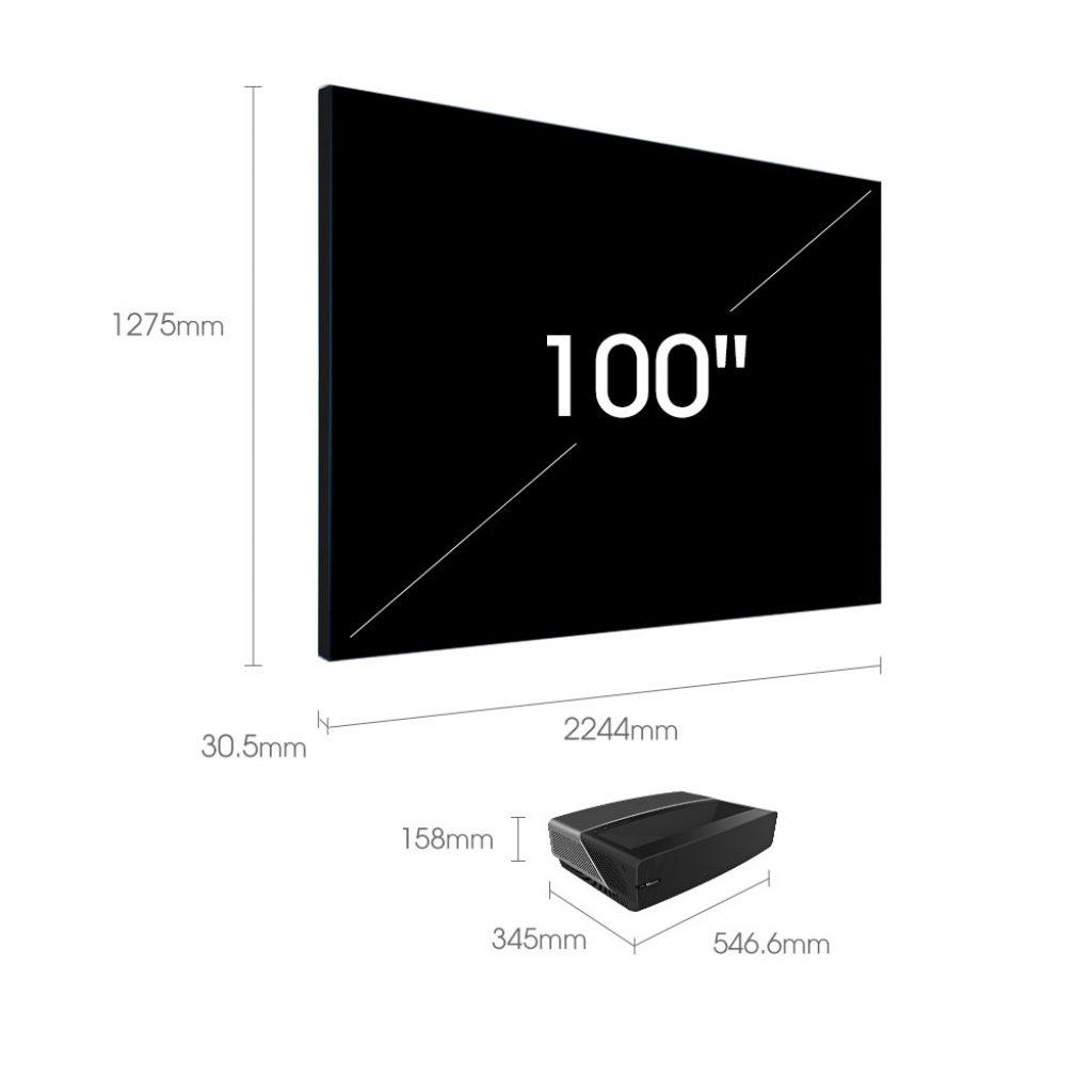 Detalles de uno de los modelos Laser TV de Hisense