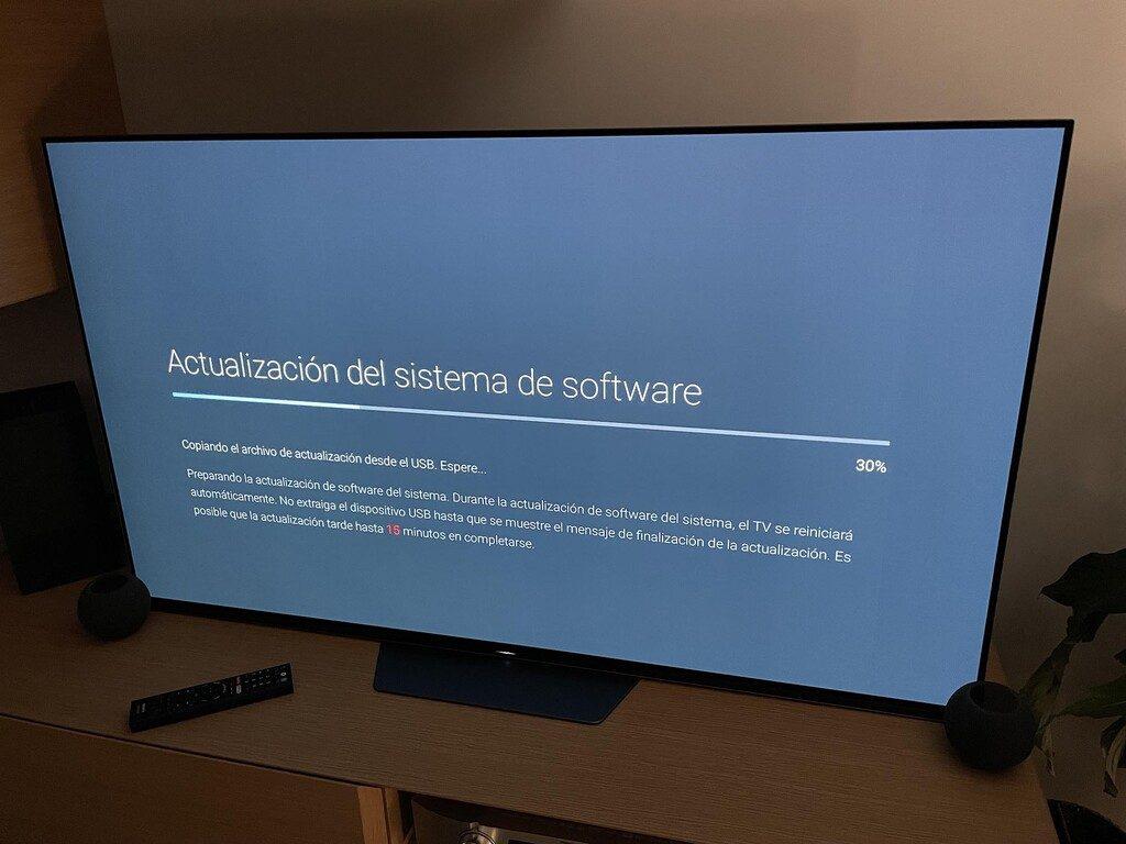 La actualización del televisor es sencilla y se está dando ya