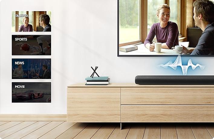 Mejora de voz y canal central - Samsung HW-S60A