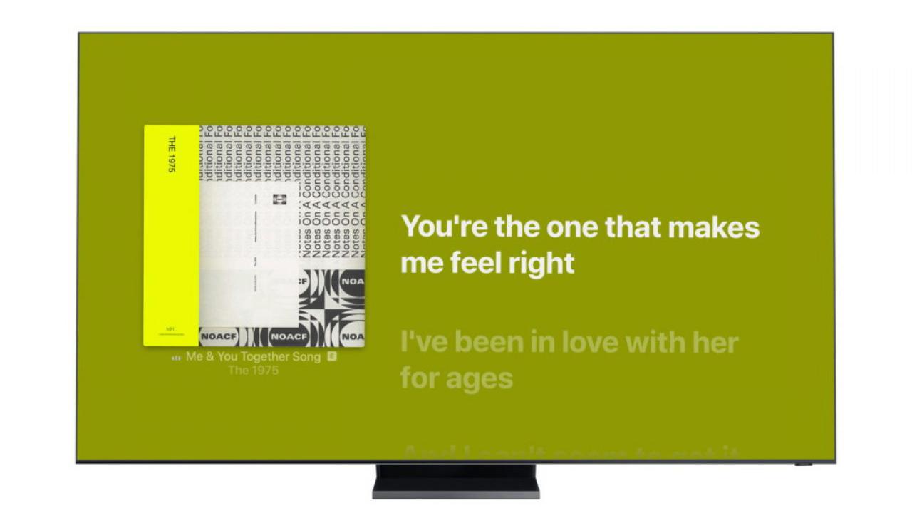 tener las letras de las canciones en la tele