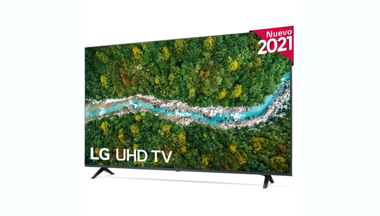 LG 75UP77003LB diseño