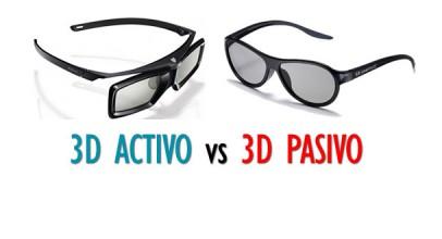 Diferencias 3D activo o 3D pasivo