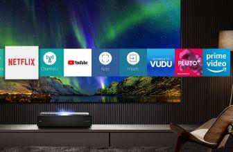 Hisense H100LDA, una Láser TV con proyector, pantalla y subwoofer