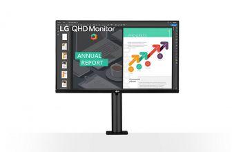 Monitor LG 27QN880-B se centra en la ergonomía para ayudar al usuario