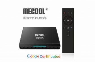 MeCool KM9PRO, Android TV Box con certificación oficial de Google