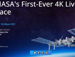 La NASA prepara su primer streaming en directo en 4K