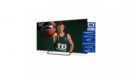 TD Systems K58DLX11US, disfruta de Android TV a un precio increíble