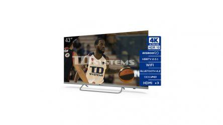 TD Systems K43DLX11US, un televisor 4K por menos de 300 euros