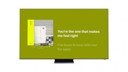 Tener las letras de las canciones en la tele mientras las escuchas ¿se puede?