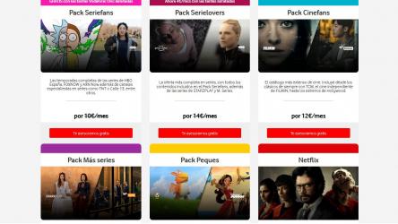 Vodafone TV: paquetes y canales de Series, Películas y Documentales