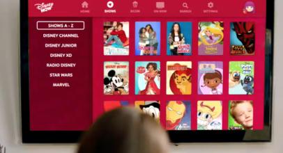 Acceso al contenido Disney desde la app DisneyNow