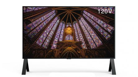 Un monitor 8K 120 Hz brutalmente grande se asoma